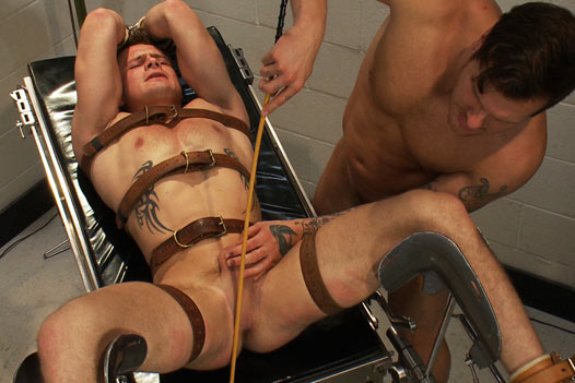 Sharp, painful inner thigh caning