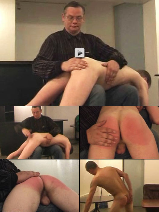 sweet Russian twink gets a nasty OTK spanking