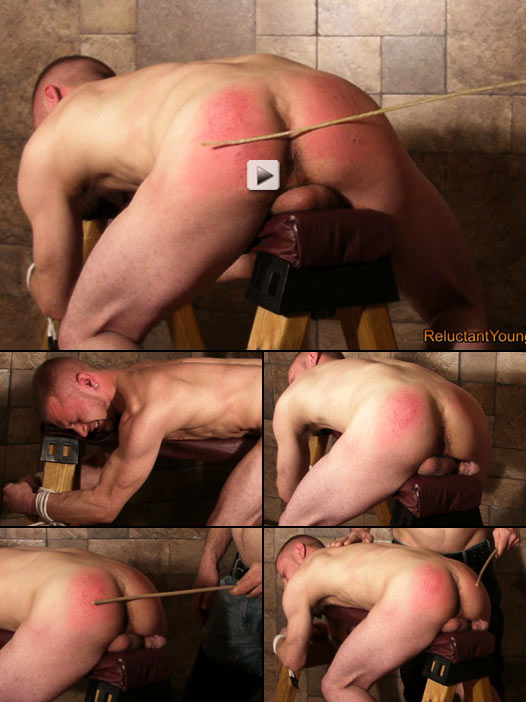 straight lad needing cash submits to horrible caning