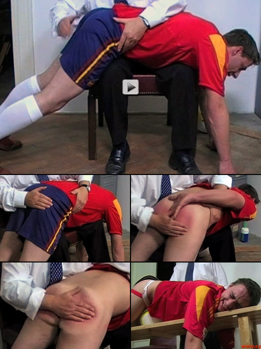 sporty lad gets a harsh OTK spanking