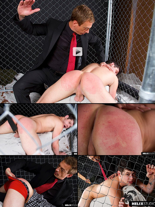 sweet ass twink chase young gets a hard paddle spanking