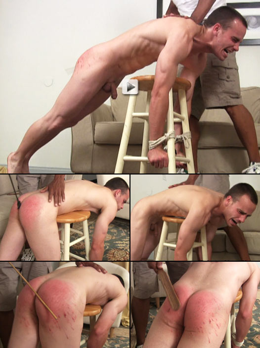 young dude screams and cries during his caning punishment