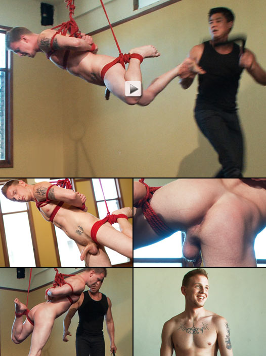 Fresh young jock suspended and flogged