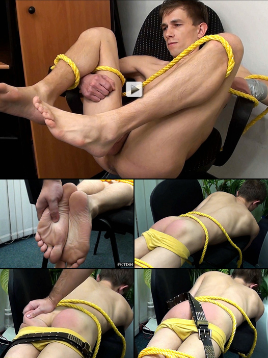 lean twink gets a harsh belt spanking