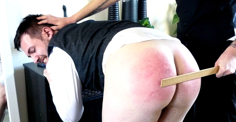 Bratty Young Gent Bent Over for Punishment
